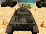 3D Army Tank Parking